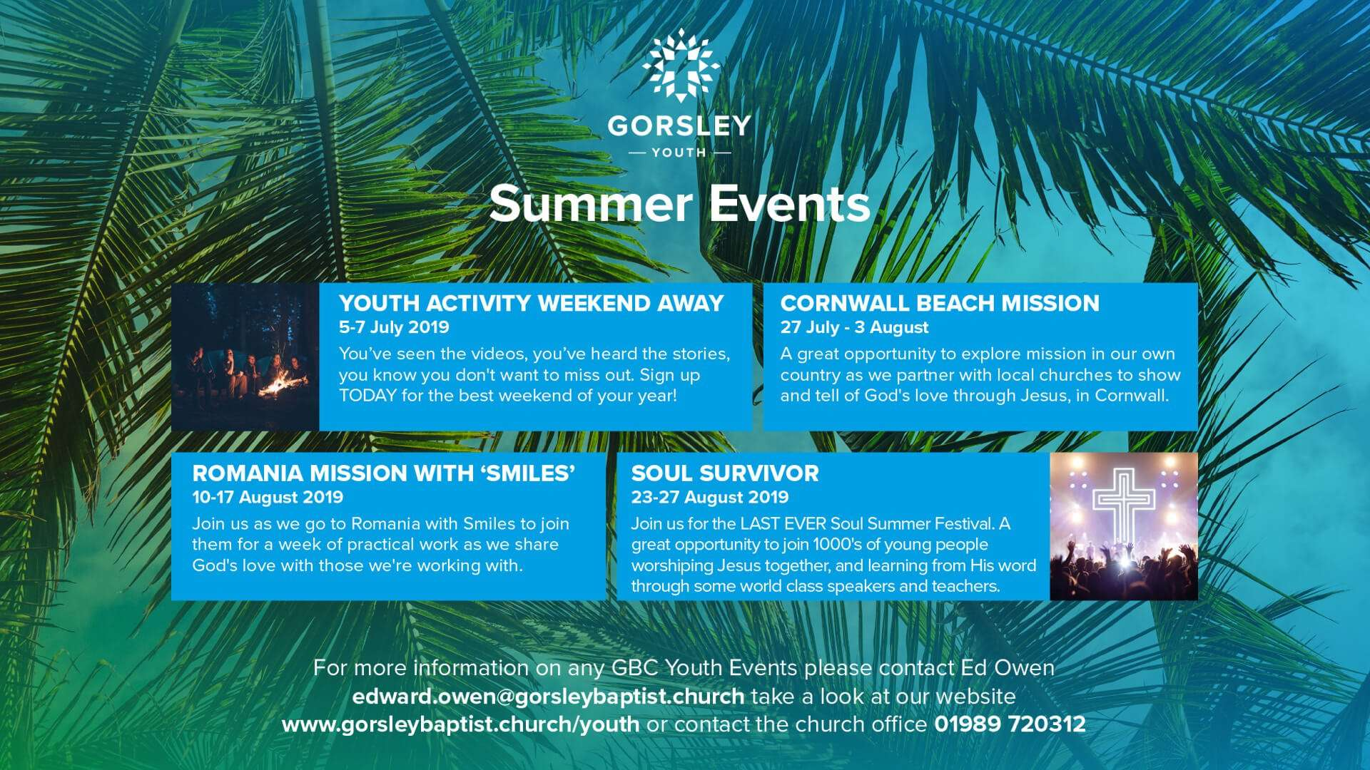 Youth Summer Events